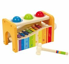Hape Pound & Tap Bench with Slide Out Xylophone - Award Winning Durable Wooden M