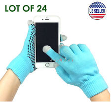Wholesale Lot of 24 Touch Screen Gloves Smartphone Tablet Pad US Stock (BLUE)