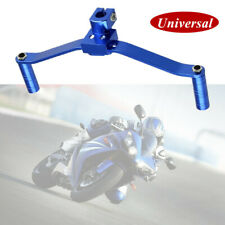Blue Universal Motorcycle Aluminum Dual Gear Shift Lever Footrest Pedal Shifter