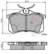 Allied Nippon Rear Brake Pad Set ADB0797  - BRAND NEW - 5 YEAR WARRANTY