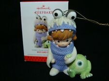 Precious Moments-Hallmark Ornament-Disney's Pixar Monster's Inc-Boo And Mike
