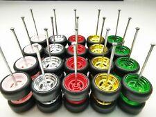 10 set MIX 4 spoke premium rubber wheels for HW JDM 1:64 cars #51
