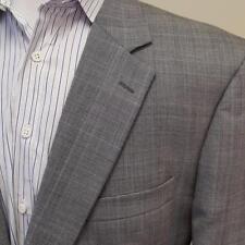 Jos A Bank Glen Plaid Blazer 100% Wool Sport Coat Mens sz 43L Gray Jacket