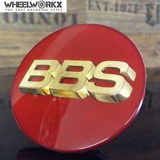 Original BBS Emblem Felgendeckel Nabenkappen 3D rot gold 70,6mm 56.24.073