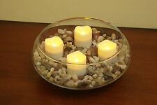 Set of 12 Flameless Candles, Flameless Votive Tealight LED Votives with Timer