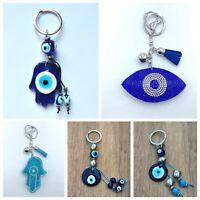 Llavero mal de ojo azul nuevo amuleto suerte hamsa nazar hombre mujer regalo