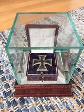 World War I Imperial German Iron Cross 1st Class - Original Case w/Glass Display