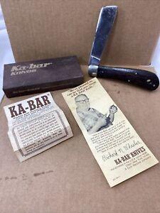 Vintage Kabar Bosun's~Sailors Rigging Rope Folding Pocket Knife Walnut Handle