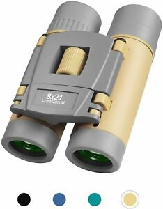 RONHAN 8X21 Binoculars Girl Boy, Small Pocket Binoculars Mini Waterproof Folding