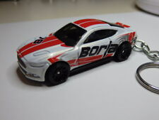 Hot Wheels 2015 FM Ford Mustang Racing Keychain Keyring Fob Chain
