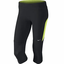 BNWT  Nike  519841 Ladies Grey/Volt/Silver Capri Tights  Size : XS