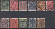 Echte Briefmarken aus dem deutschen Reich (1919-1923) als Satz