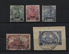 Deutsche Post in der Türkei 12-21 II (5 W.) gestempelt 4 x BPP-geprüft (B05536)