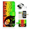 ( For iPhone 5 / 5S / SE ) Wallet Case Cover! Mob Marley P0045