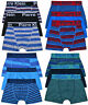 Boys 3 Pairs Boxer Shorts Kids New Stripe Cotton Underwear 3 PACK Age 5-13 Years