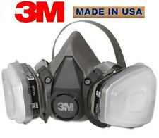 3M 6100 Half Face Reusable Respirator 7 pc Kit for Spraying and Painting, SMALL