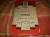 Ordnance Survey vintage 1957 One Inch 7th Series Map 54 Stirling