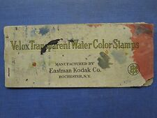 ANTIQUE EASTMAN KODAK HAND COLORING VELOX WATERCOLOR STAMPS MUSEUM QUALITY RARE