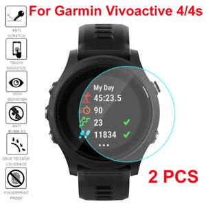 2X Garmin Vivoactive 4 | 4S Watch Full Tempered Glass Screen Protector Guard OZ