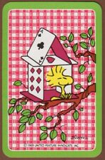 Playing Cards 1 Single Swap Card - Vintage WOODSTOCK from Peanuts Snoopy House