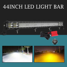 "10D Quad Row 44/42""inch 5040W LED Light Bar lens Spot Flood 4WD Offroad ATV"