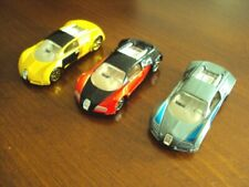 Lot of 3 different Hot Wheels Bugatti Veyron, loose