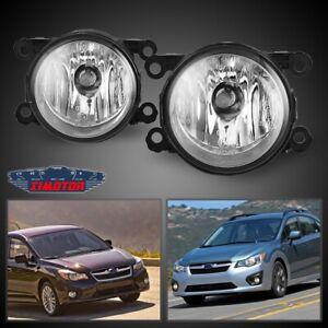 Fit Subaru Impreza 12-18 Clear Lens Pair Bumper Fog Light Lamp Replacement