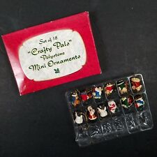 Mini Christmas Tree Ornaments Santa Angel Snowman Polystone Crafty Pals Set 12