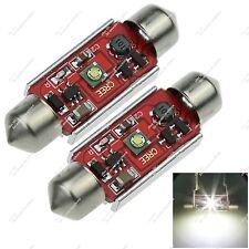 Pair Festoon 36MM 6418 1 Cree LED RV Dome Lamp Canbus Error Free Auto ZI128