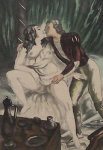 BERTHOMME SAINT ANDRE :  Vérification du matériel - Lot de 2 EAUX FORTES, 1931
