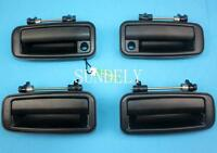 New 4Pcs Outside Door Handles Set Front Left Rear Right For Toyota Corolla 88-92