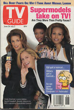 1993 TV GUIDE Cindy Crawford Lauren Hutton Naomi Campbell June 26-July2 NO LABEL