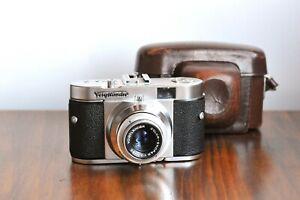 VOIGTLANDER Vito B  - Color Skopar   35mm film camera   w/ Leather Case   * EXC+