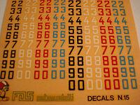 DECALS KIT 1/43 NUMERI 6-7 MM F1 DECALS 1/43 GENERICA DECAL