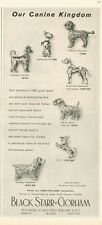 1958 Black Starr Gorham  PRINT AD features 7 Beautiful Canine 18K Gold Dog Pins
