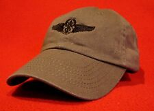 Air Force Chief Aircrew Black Wings ball cap low-profile aviator hat - OD Green