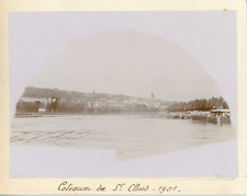 France, Coteaux de Saint-Cloud 1901, Vintage citrate print Vintage citrate print