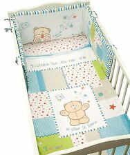 Luxury Forever Friends 'Little star' baby Boy Blue 5pc Cot Bed Bale Set