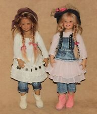 Annette Himstedt Puki and Lillemore standing Klein + outfits 14""
