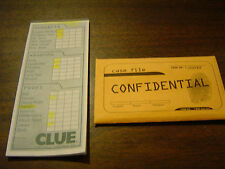 2002 Clue Score Sheet and Confidential Case File Envelope by Parker Bothers Co.