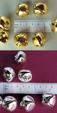 "200 Bright Shiny JINGLE Metal Craft BELLS ~ 25mm (1"") 100 SILVER + 100 GOLD Mix"