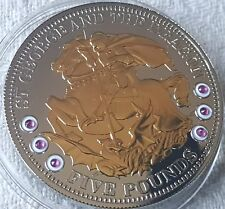 2009 Tristan Da Cuhna £5 COA Numbered St George and Dragon Silver Proof Coin No3