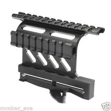 Tactical 20mm Picatinny Side Rail Mount QD Quick Detach Double Rail Scope Mount