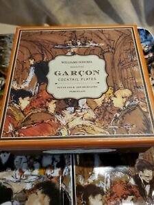 Williams Sonoma Garcon Cocktail Appetizer Plates Set of 4 in Box Catherine Mayer