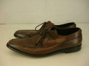 Mens 8 M Bruno Magli Loreto Brown Leather Oxfords Dress Shoes Handmade in Italy