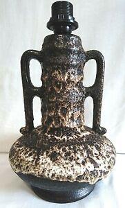 Vintage Mid Century West German Fat Lava Pottery Ceramic Lamp Retro Fab Glaze!