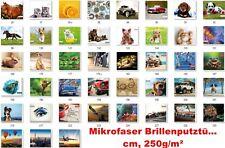 Brillenputztuch Mikrofaser Brillentuch Microfaser 15 x 18 cm mit Foto,Motiv,Bild