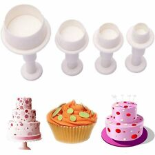 Cookie Cake Cutter Mold Biscuit Sugar Plunger Round Circle Fondant Craft Decor