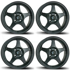 15x6.5 AVID1 AV-08 AV08 4x100 35 Matte Black Wheels Rims Set(4)