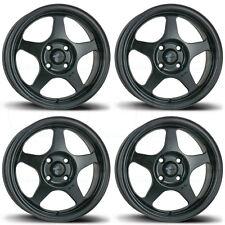 15x6.5 AVID1 AV-08 AV08 4x100 35 Matte Black Wheels Rims Set(4)